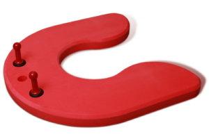 zabawka w kształcie kotwicy z dwoma uchwytami