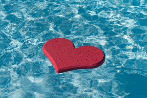 serce w wodzie